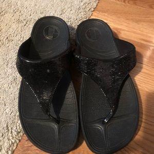 Black fit flop size 9 good condition